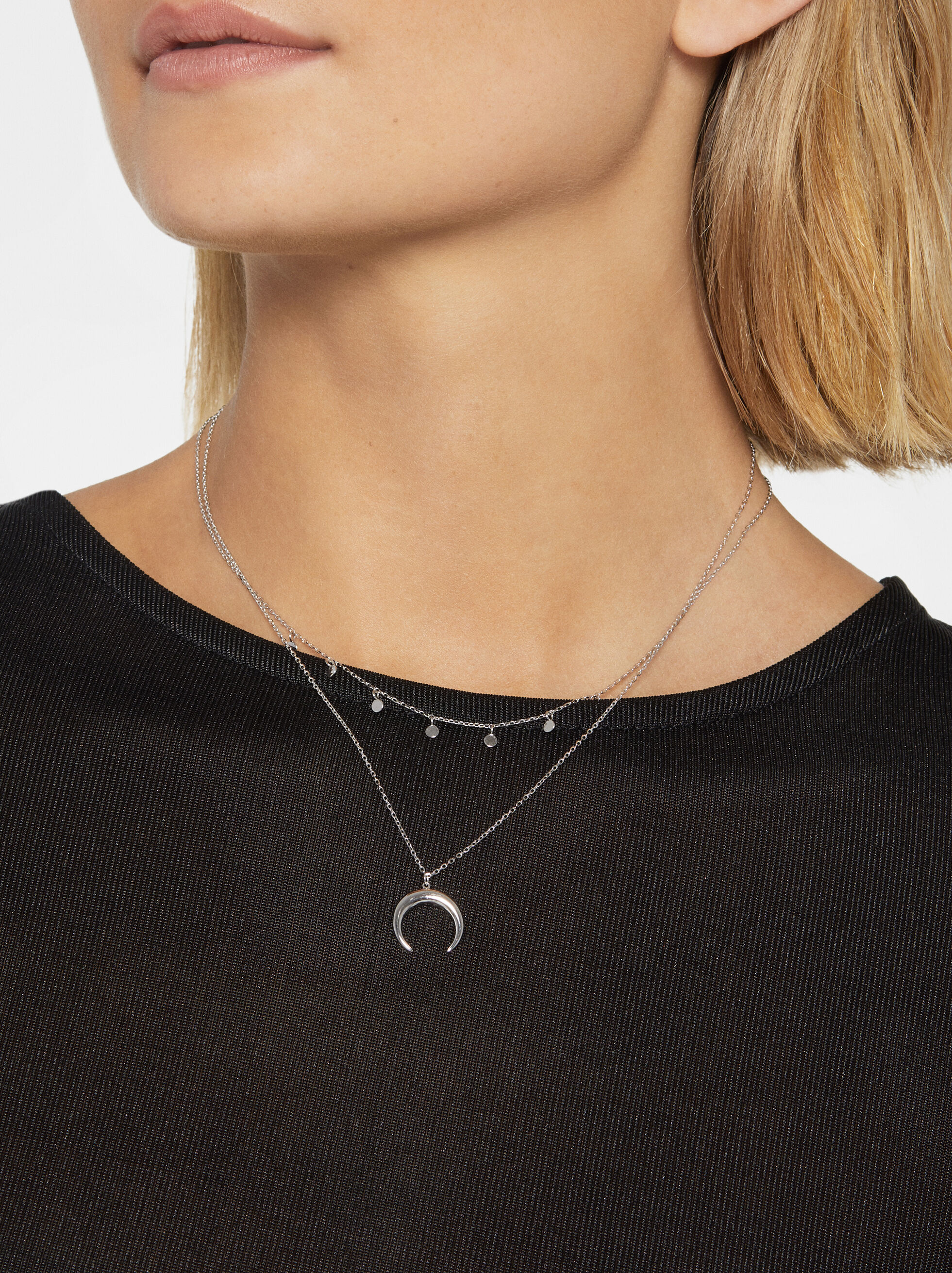 925 Silver Necklace With Pendant, Silver, hi-res