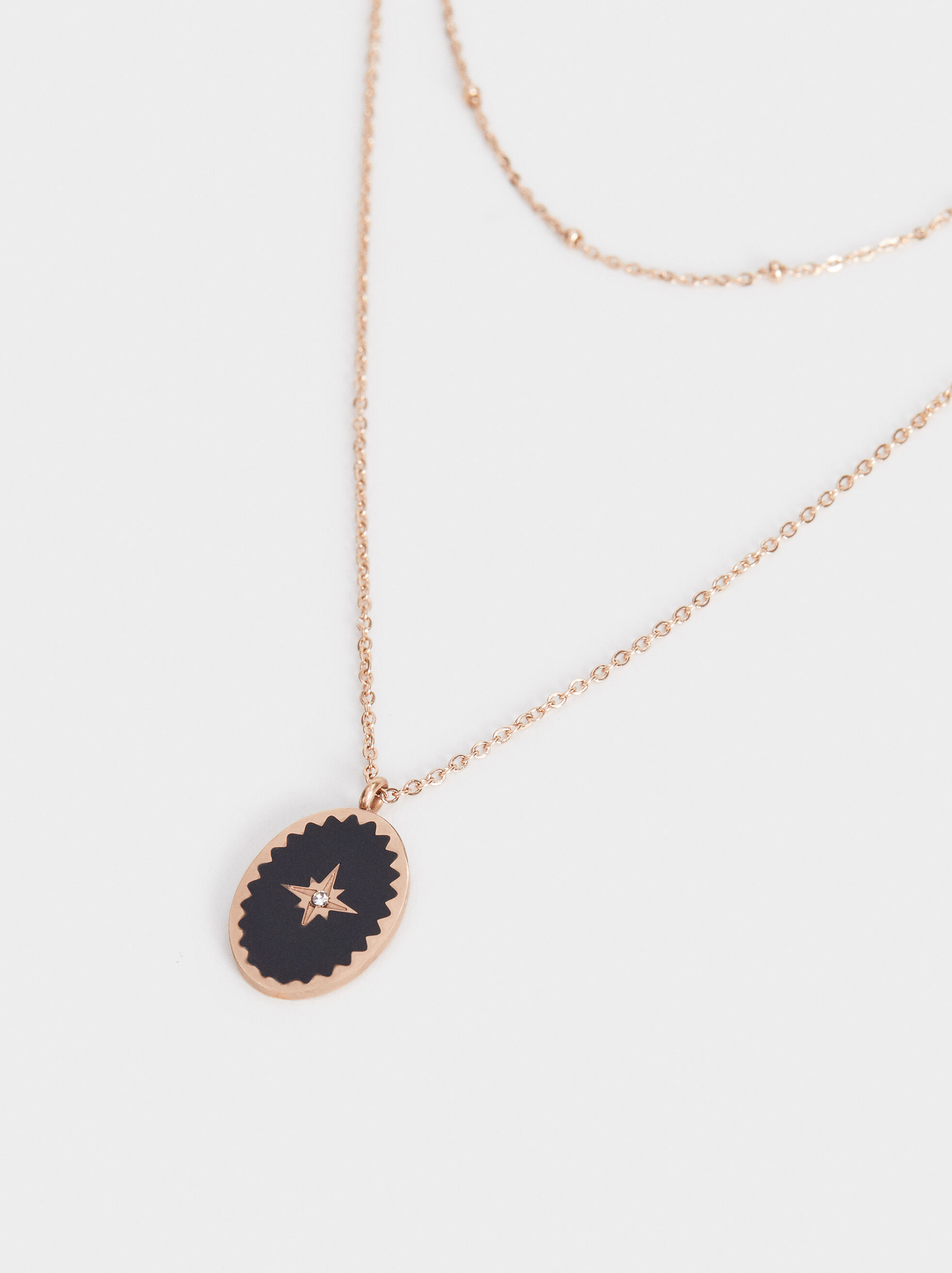 Steel Necklace Set With Star Pendant, Multicolor, hi-res