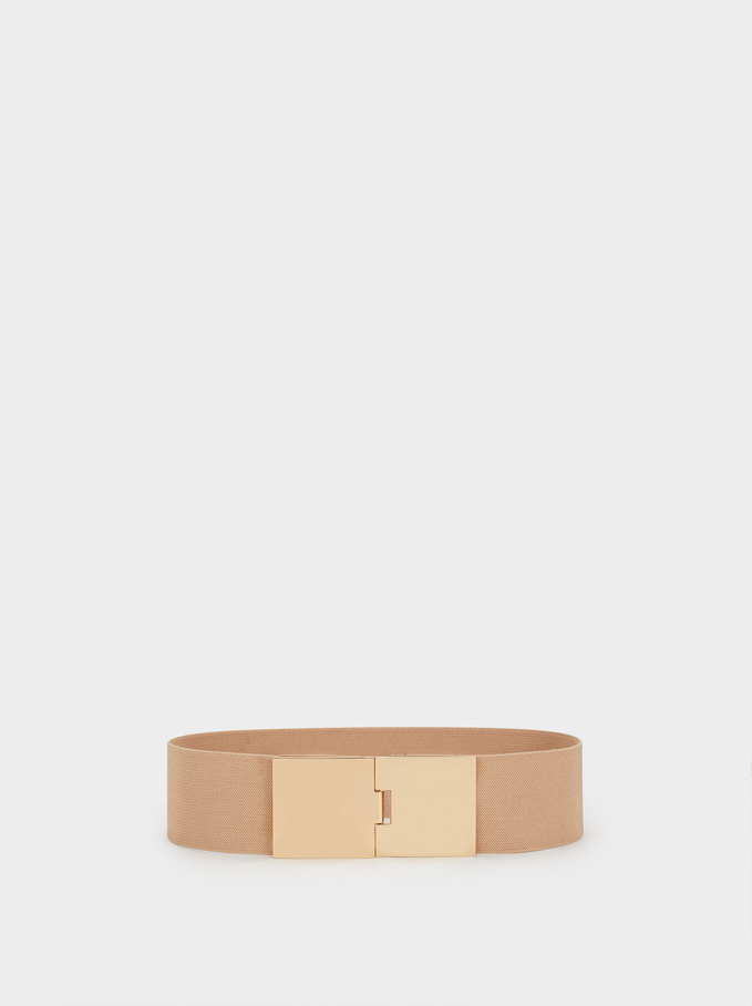 Stretch Belt, Beige, hi-res