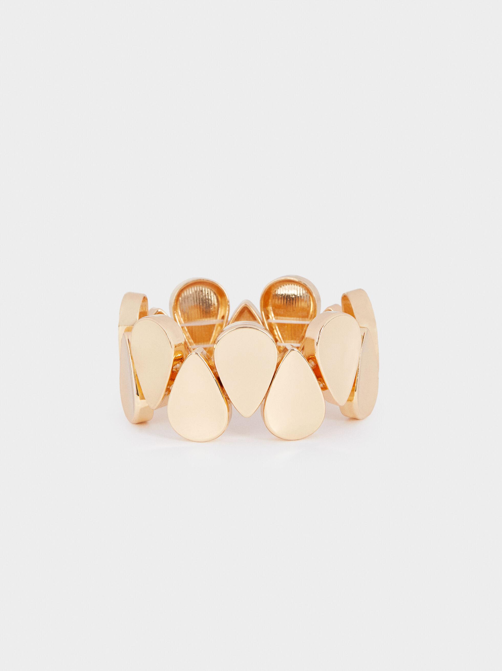 Gold Elasticated Bracelet, , hi-res