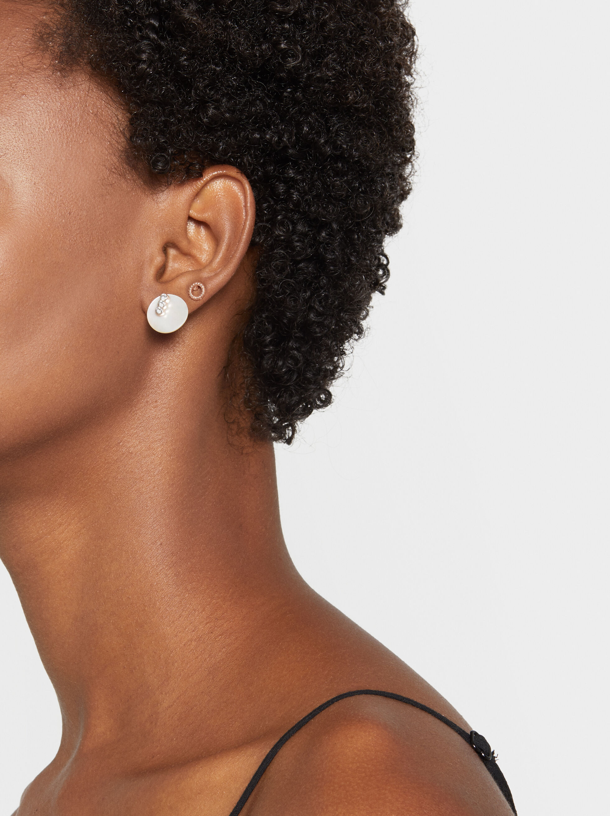 Set Of Pink Desert Earrings, Orange, hi-res
