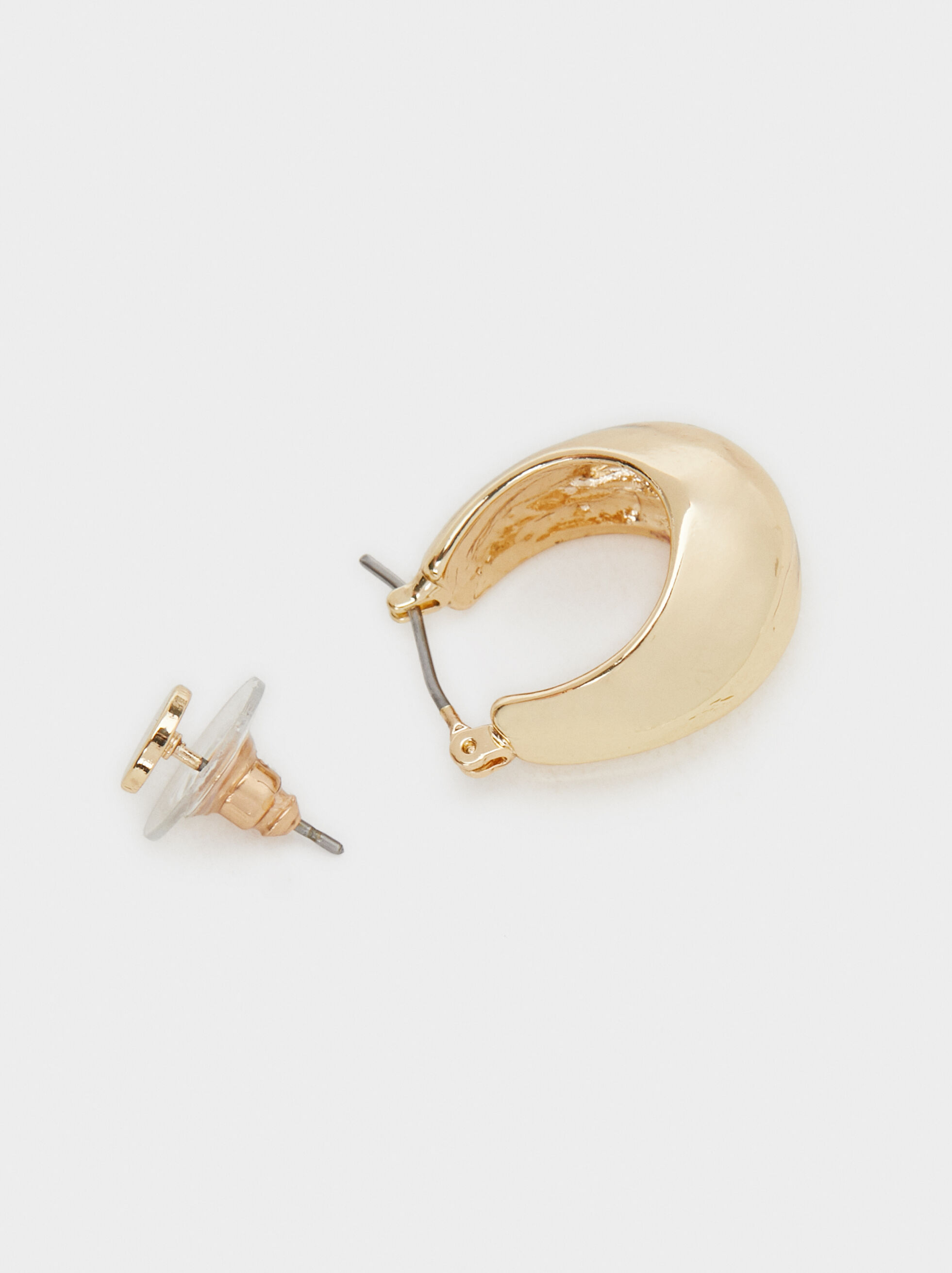 Golden Basics Hoop-Earrings, Golden, hi-res