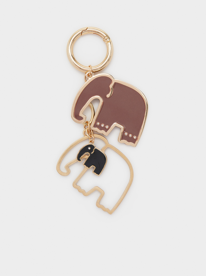 Elephant Keyring, Multicolor, hi-res