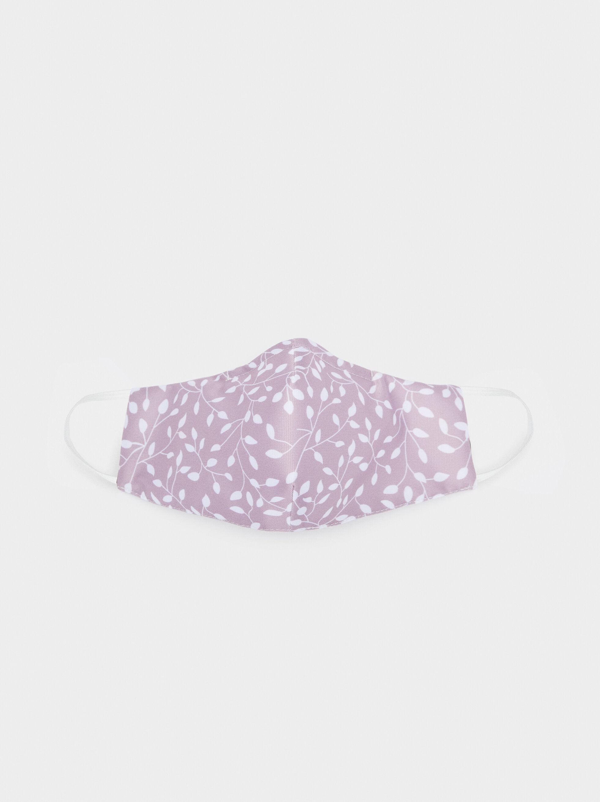Reusable Printed Mask , Pink, hi-res