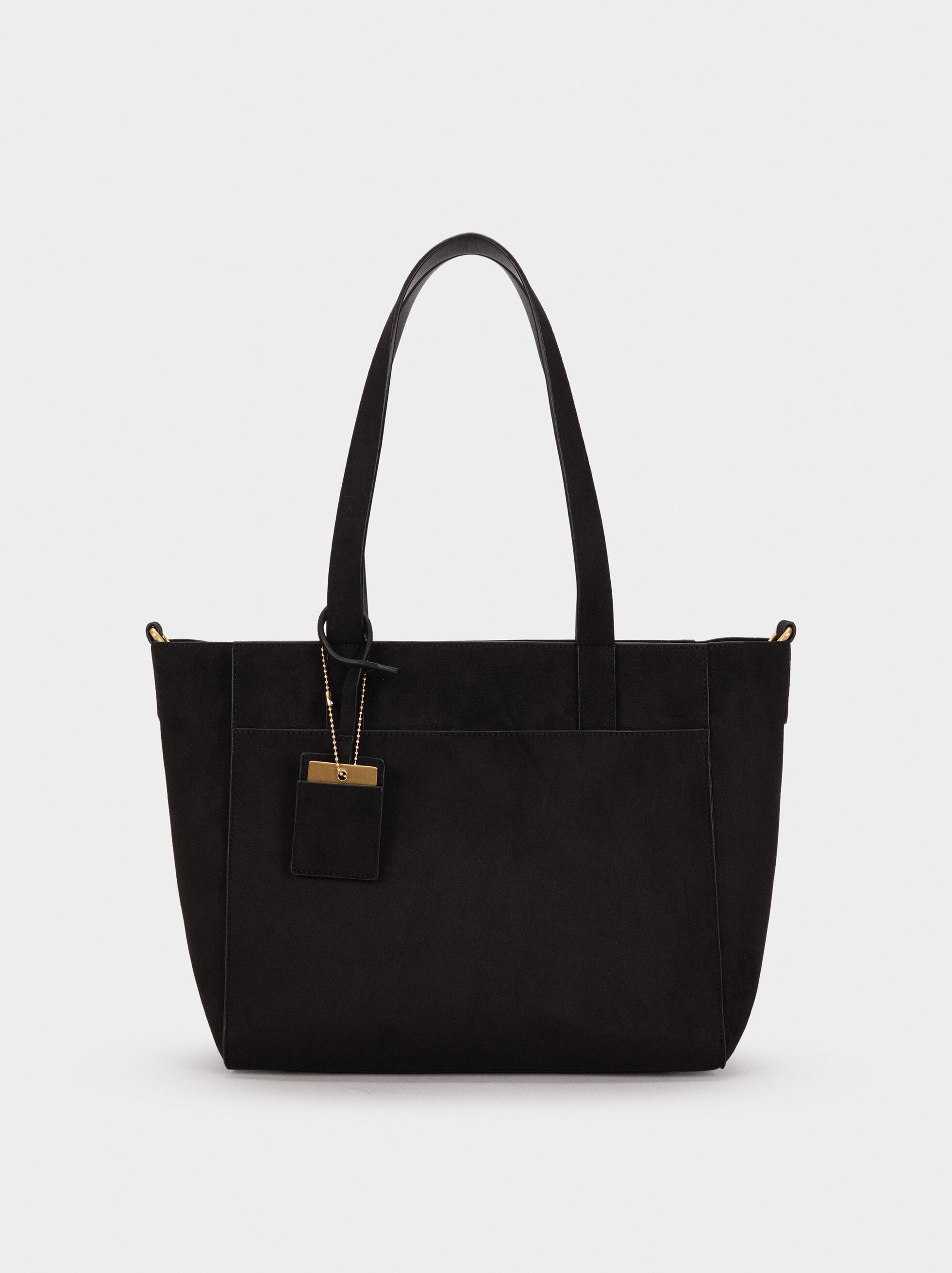 Suede Texture Tote Bag, , hi-res