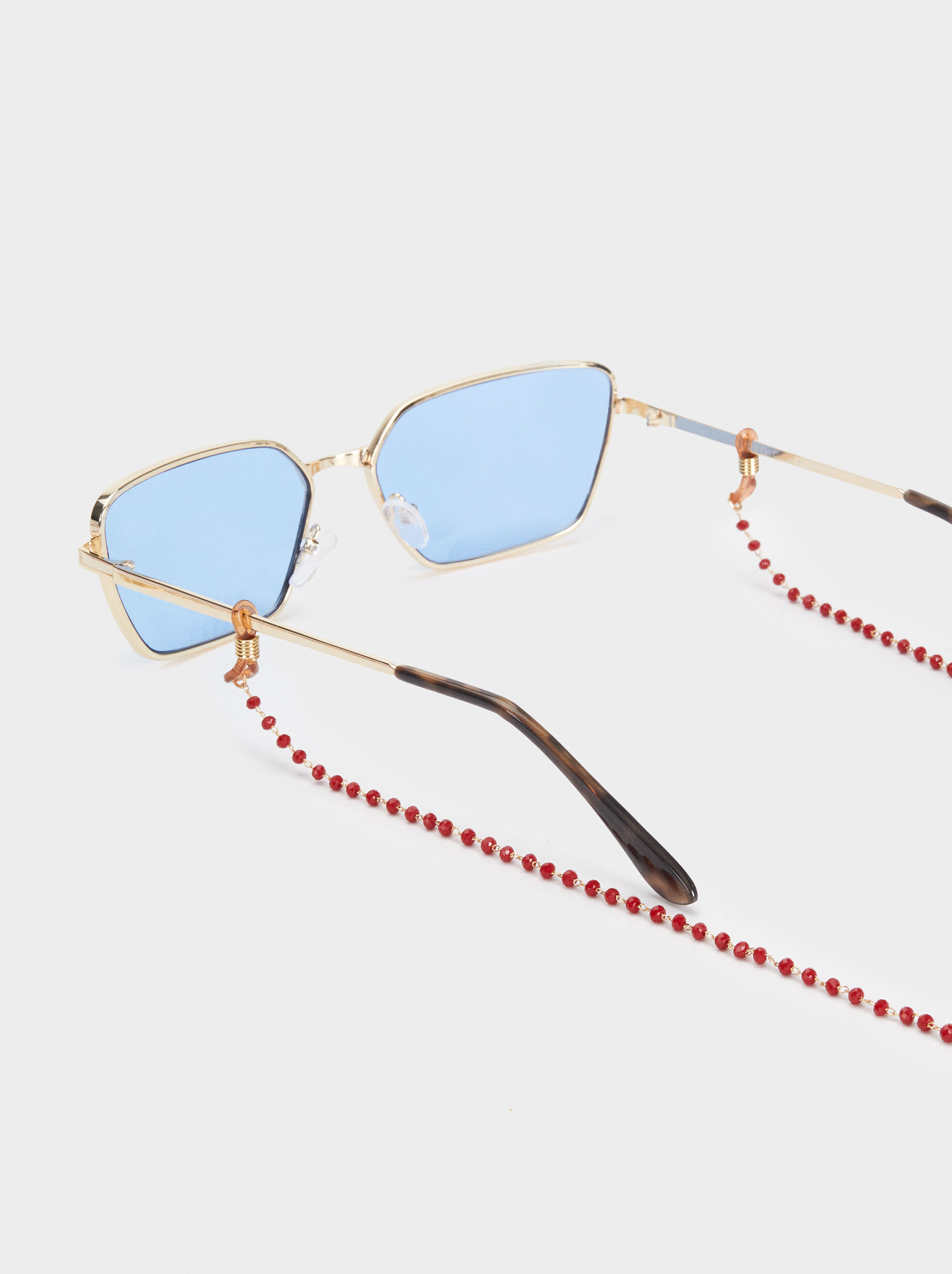 Beaded Glasses Chain, Bordeaux, hi-res