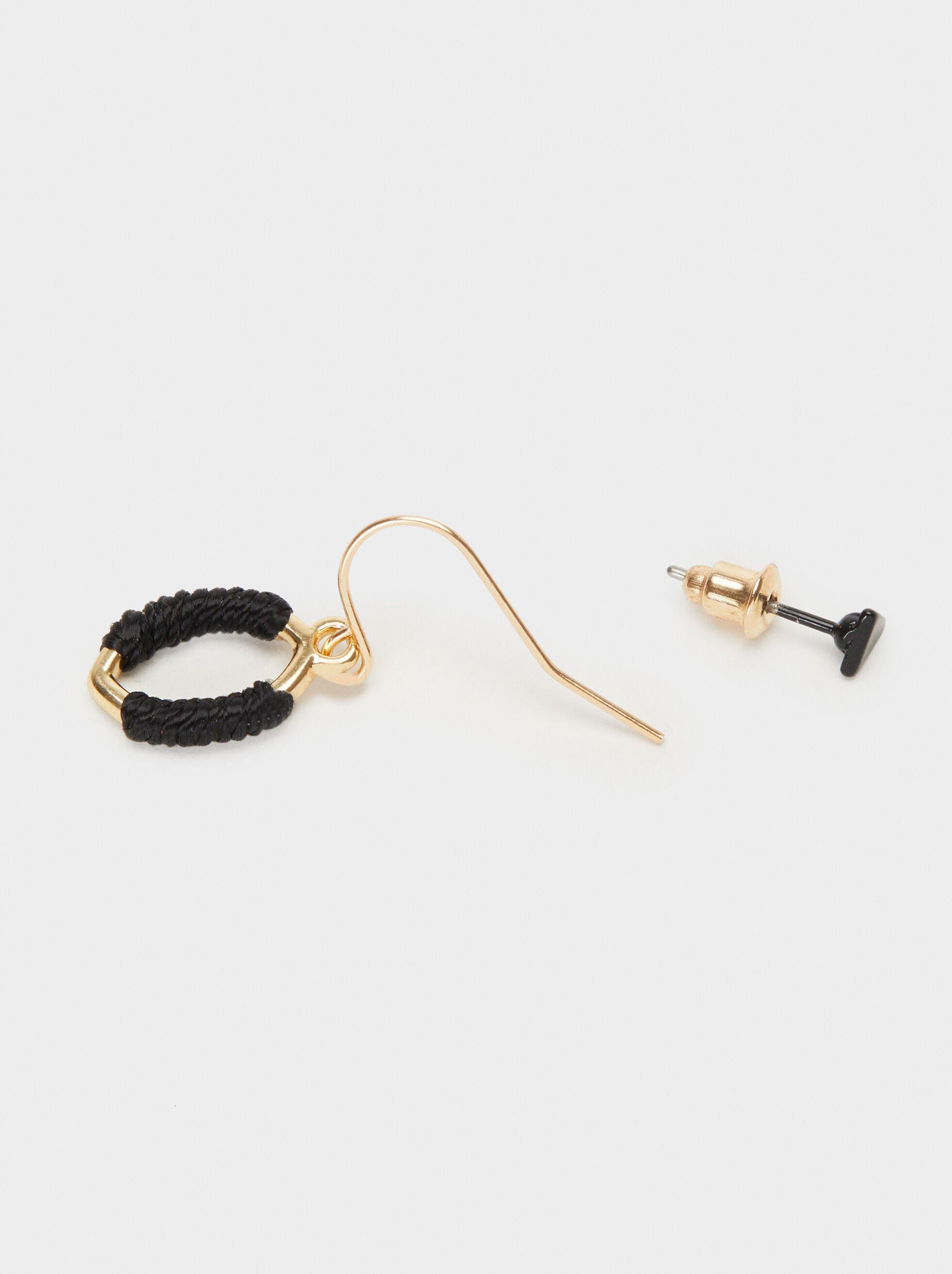 Blog Earring Set, Golden, hi-res