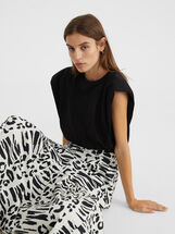 Animal Print Skirt, , hi-res