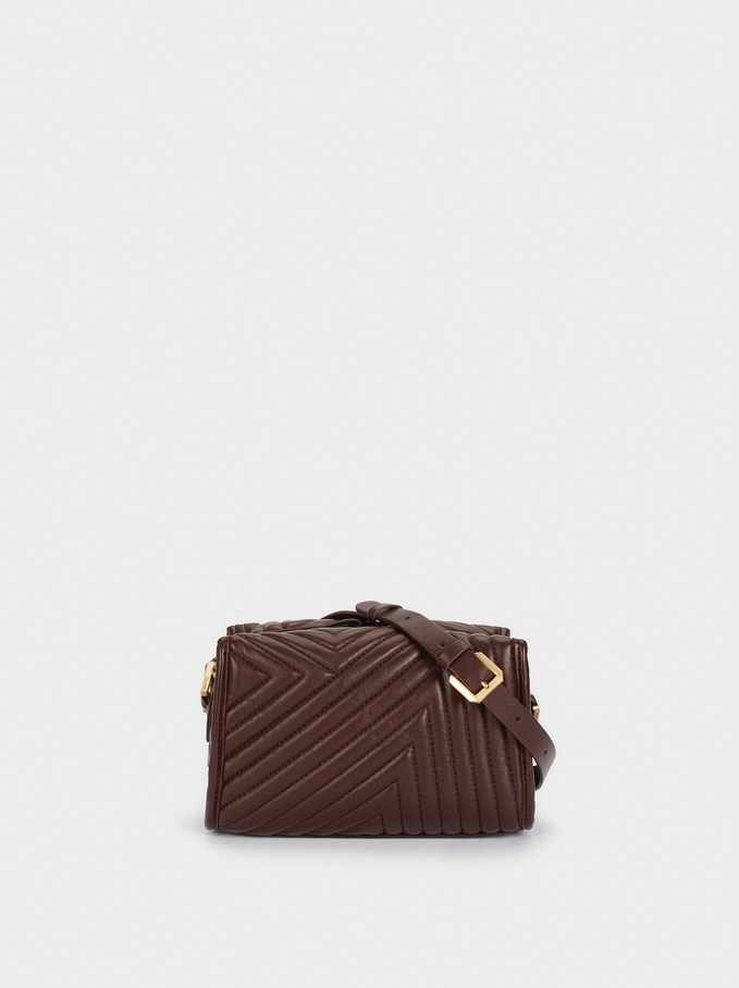 Quilted Crossbody Bag, Bordeaux, hi-res