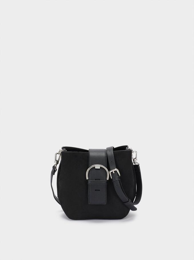 Tote Bag Texture Daim, Noir, hi-res