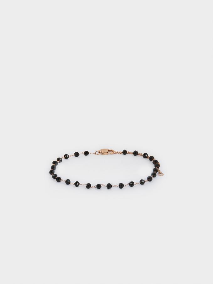 Chain Bracelet With Beads, Orange, hi-res