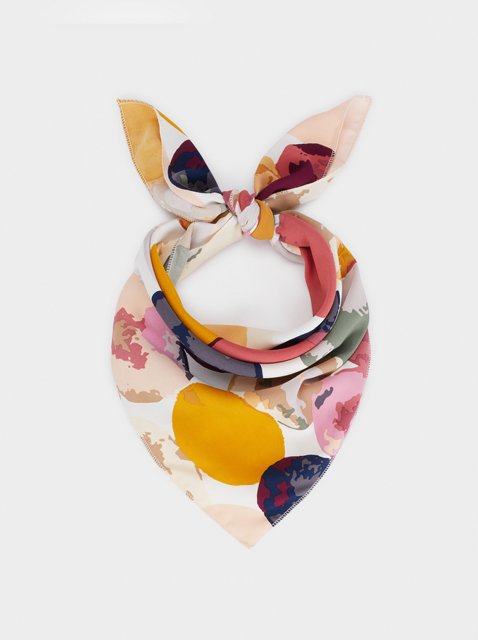 Multicoloured Printed Hairband, Multicolor, hi-res