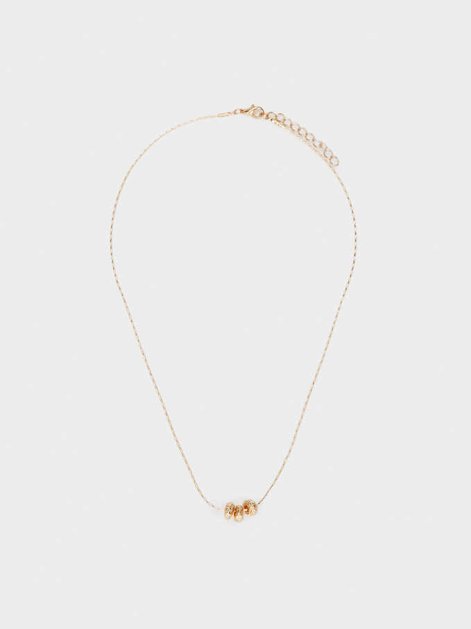 Short Golden Necklace, Golden, hi-res