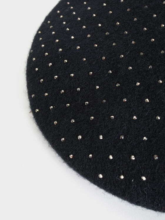Online Exclusive Wool Beret, Black, hi-res