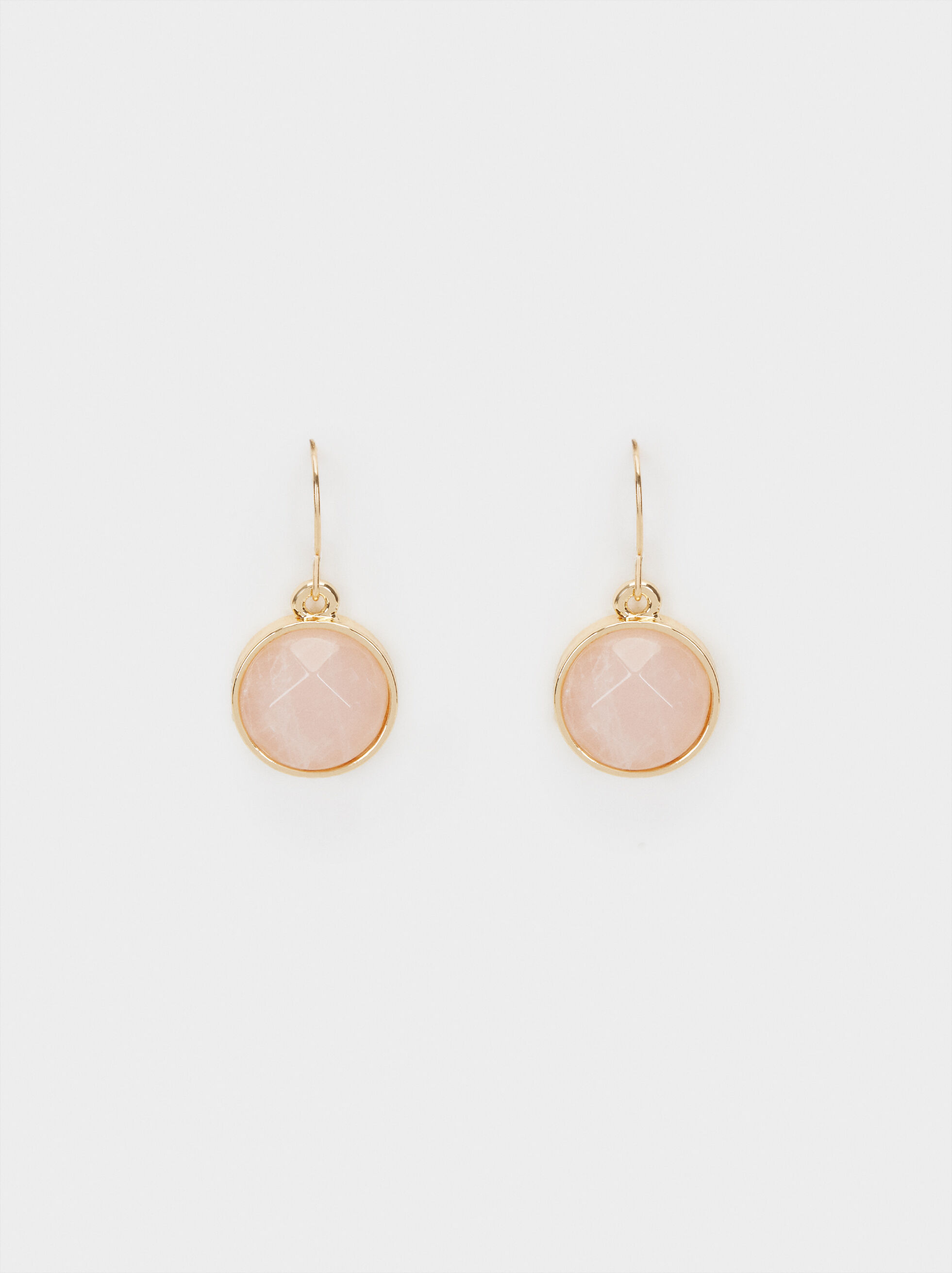 Petrified Short Drop Earrings, Pink, hi-res