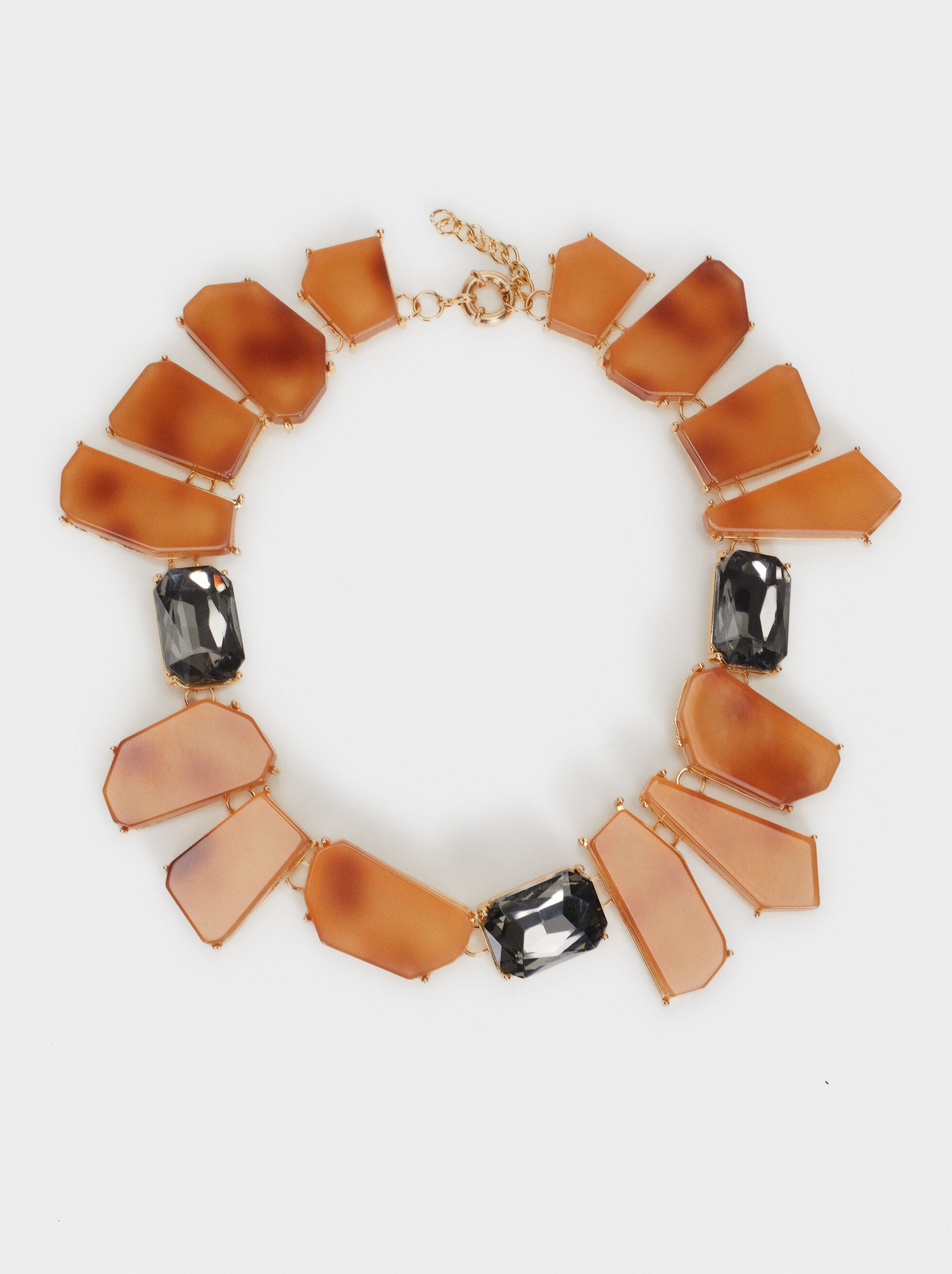Exclusive Collection Short Necklace, Brown, hi-res