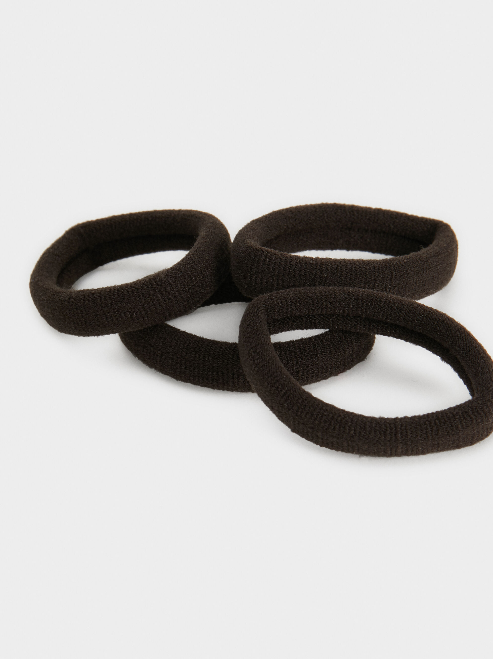 Set Of Hair Elastics, Brown, hi-res