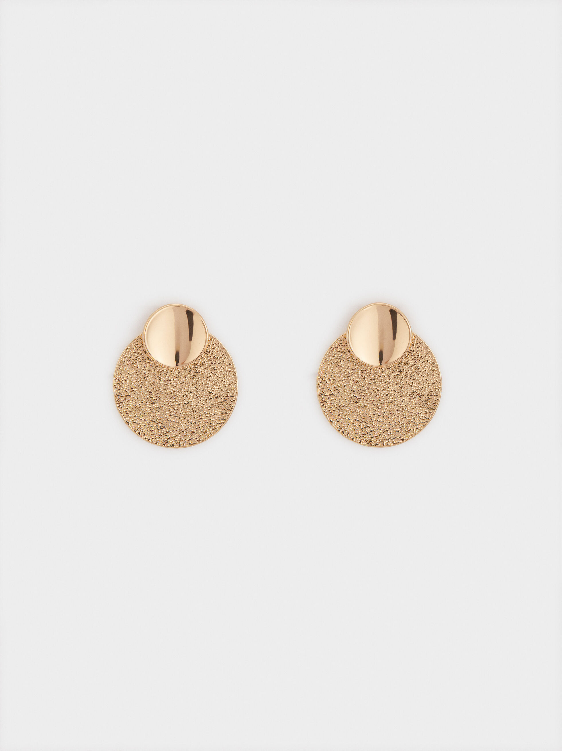 Short Circle Earrings, , hi-res