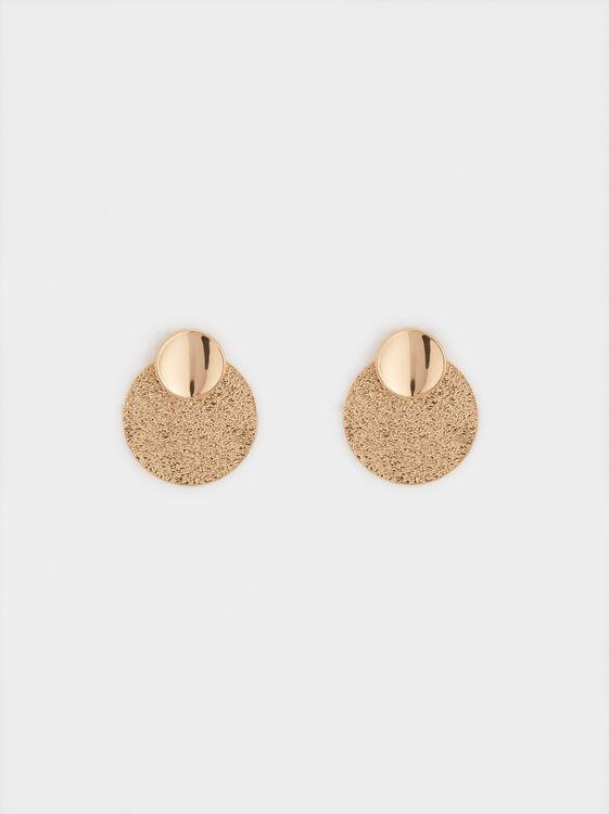 Short Circle Earrings, , hi-res