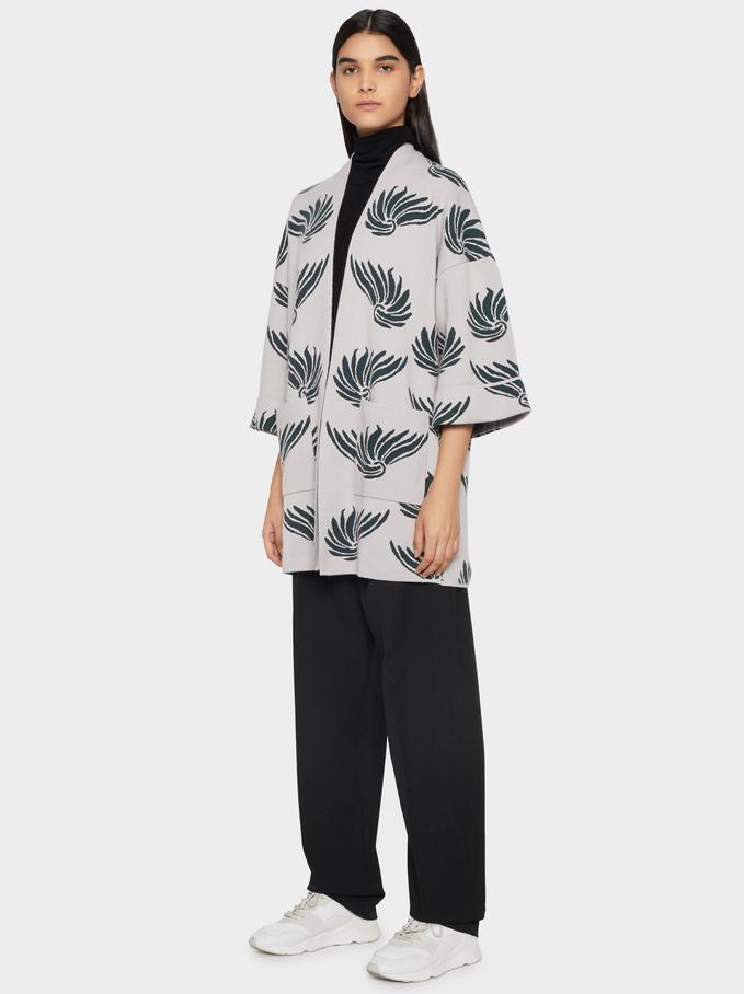 Printed Kimono, Blue, hi-res