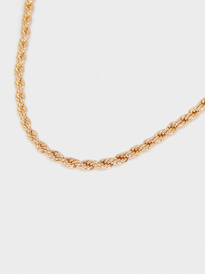 Gold Chain Necklace, Golden, hi-res