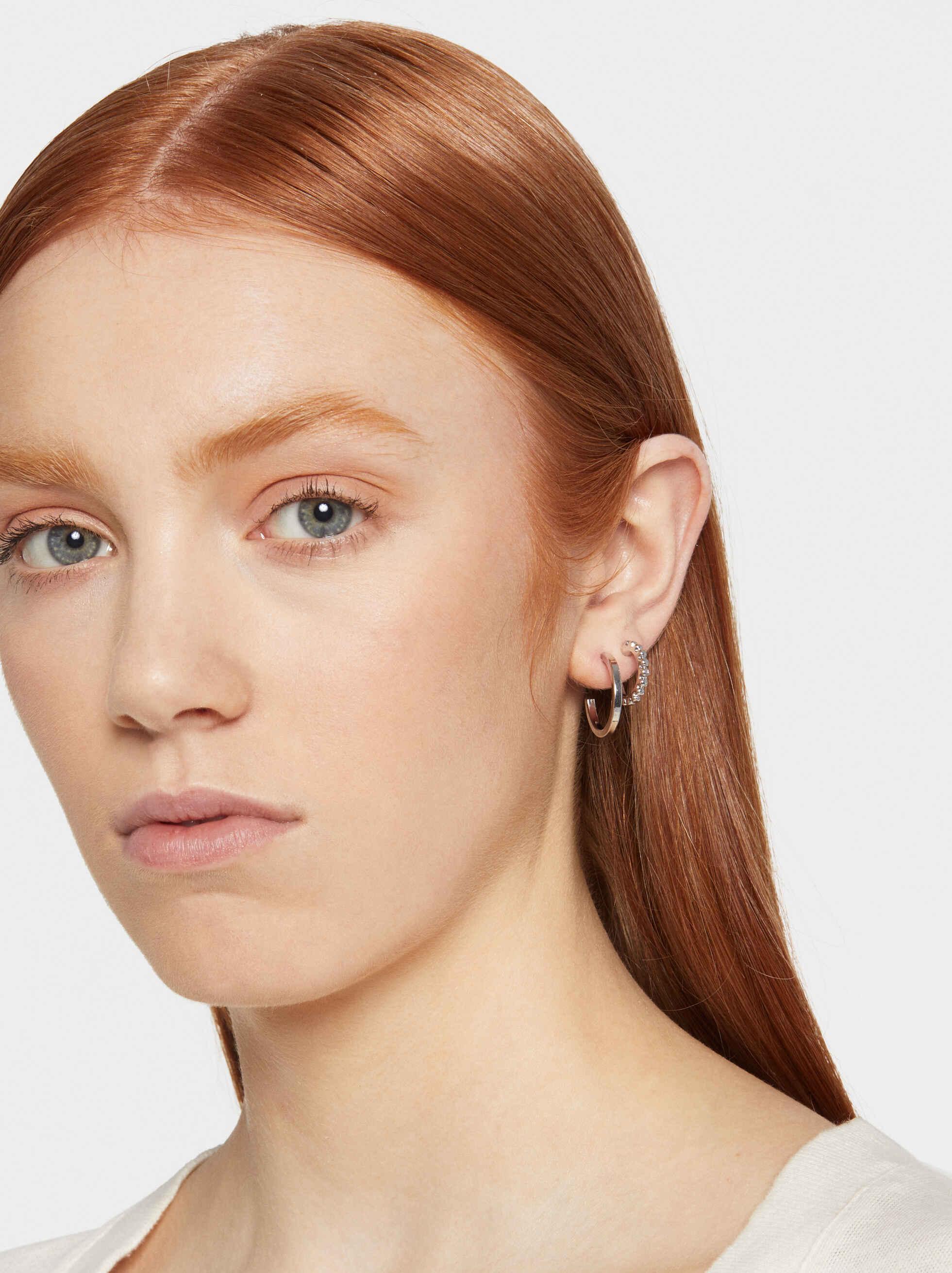 Hoop Fever Set Of Small Hoop Earrings, Silver, hi-res