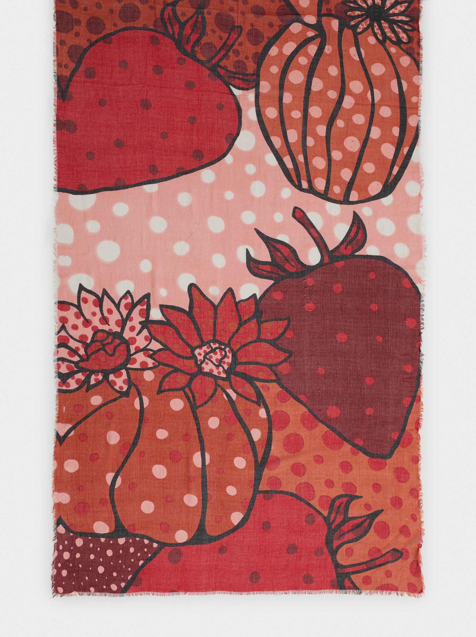 Pañuelo Estampado Lunares Y Fresas, Rojo, hi-res