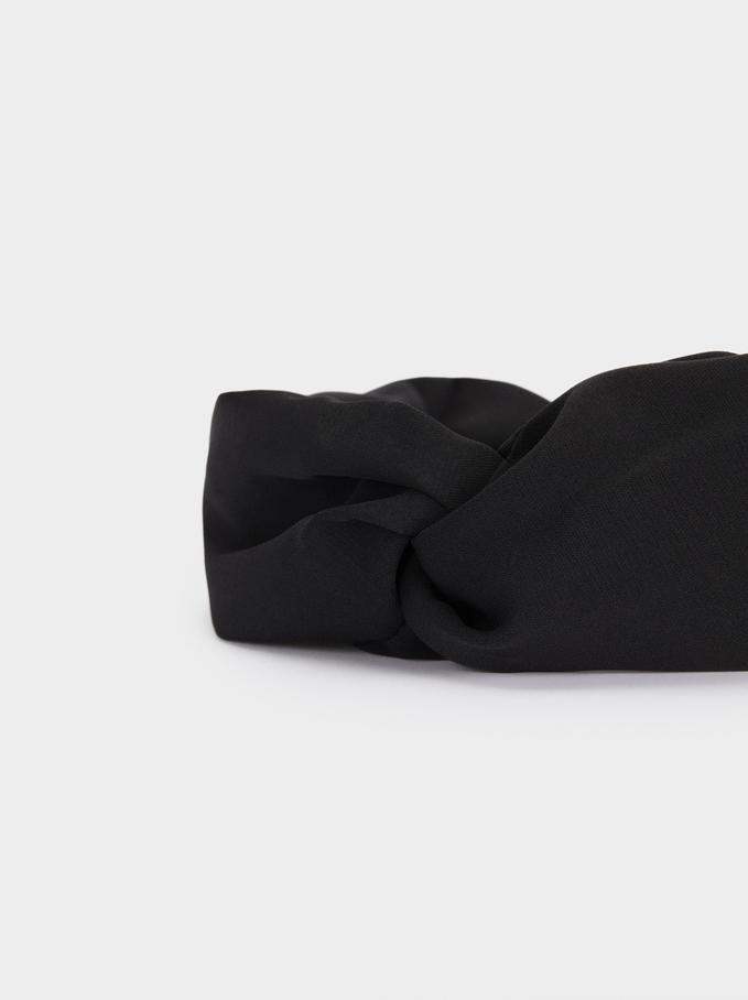 Turban-Style Headband, Black, hi-res