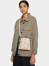 Stork Print Backpack, Pink, hi-res