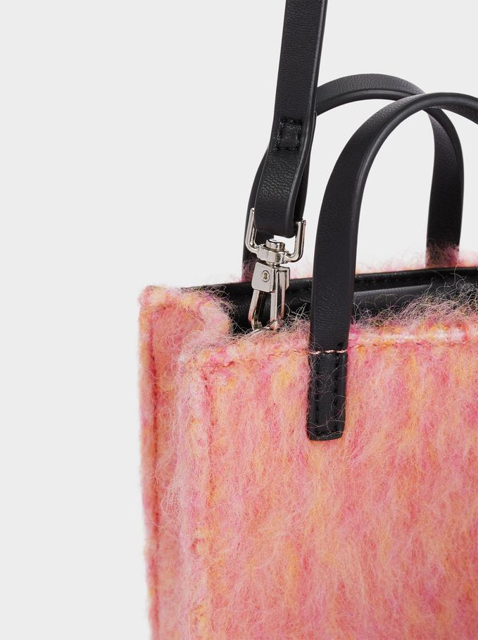 Textured Phone Case, Pink, hi-res
