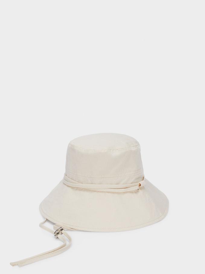 Bucket Hat With Straps, Ecru, hi-res