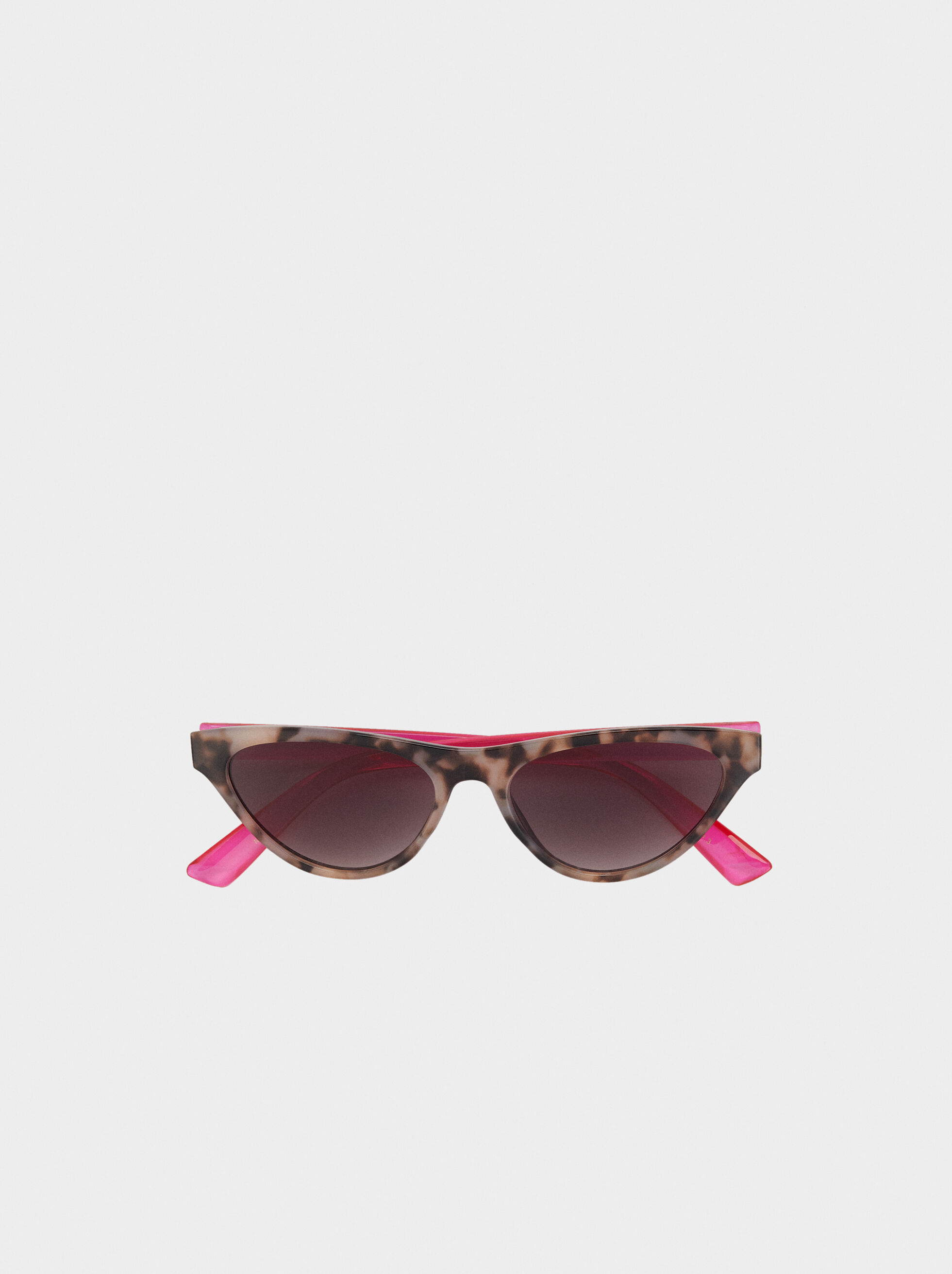 Cat Eye Sunglasses, Brown, hi-res