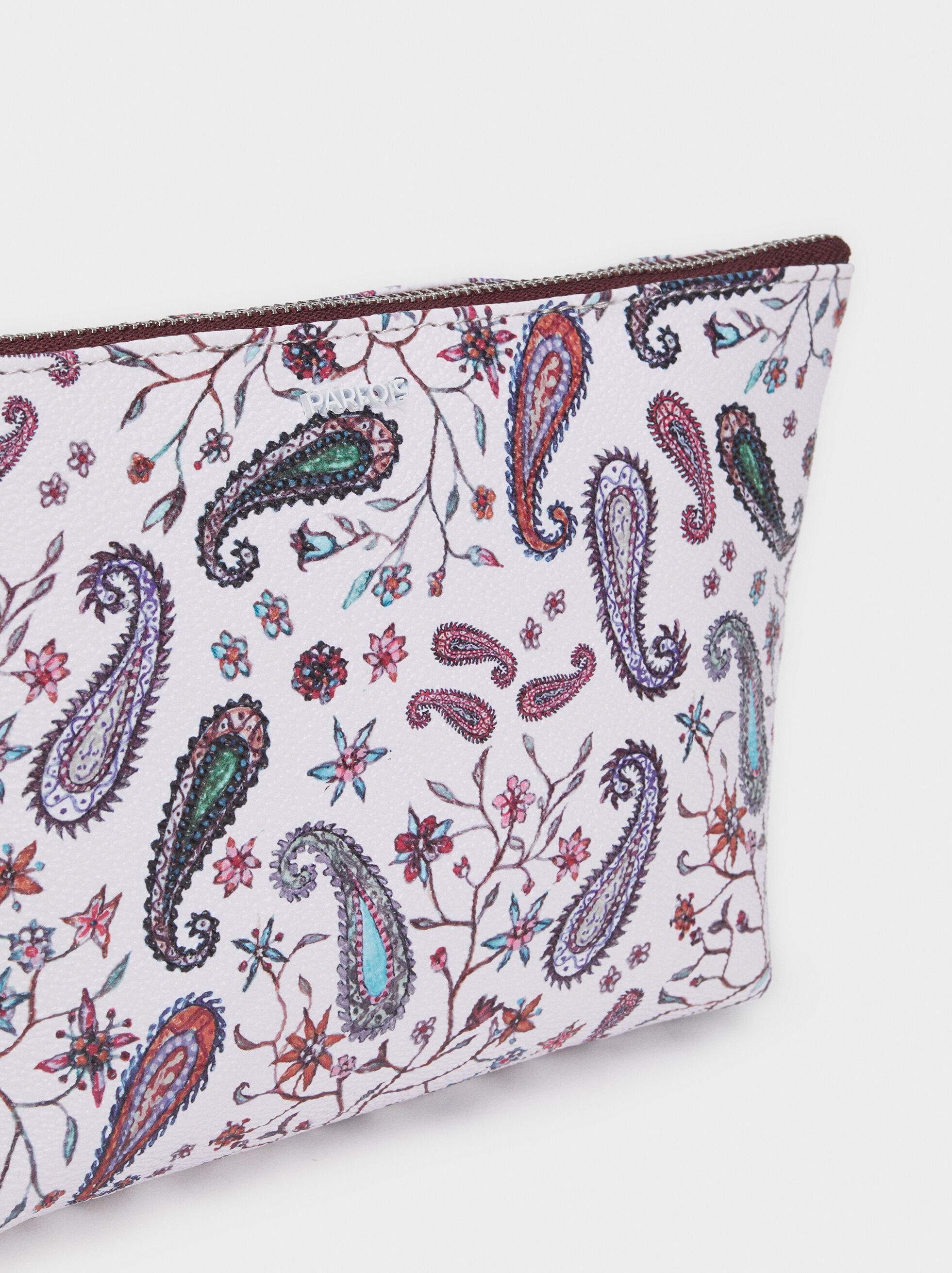 Paisley Print Toiletry Bag, Pink, hi-res