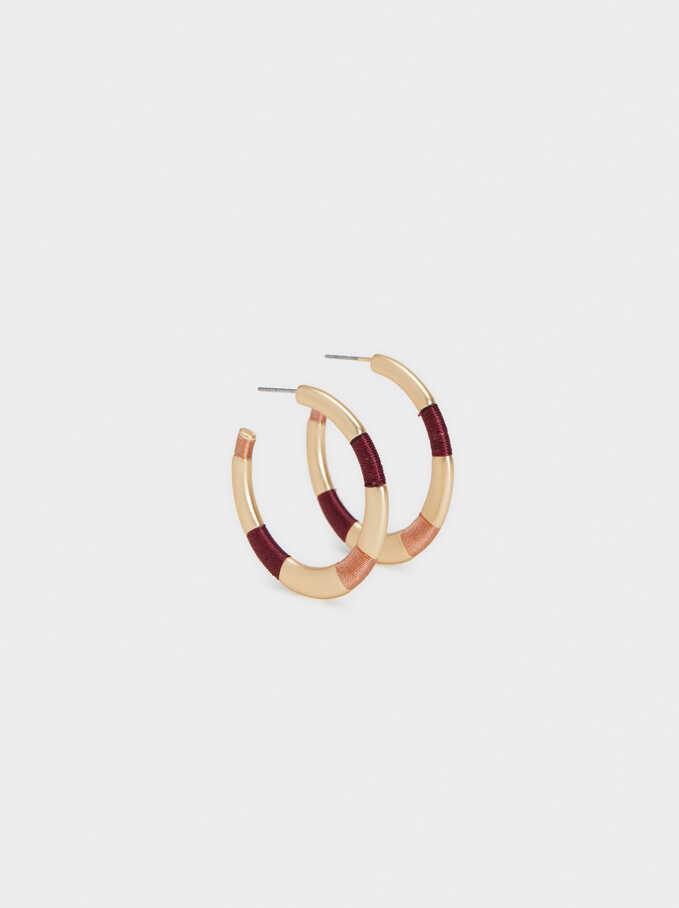 Multicoloured Medium Hoop Earrings, Multicolor, hi-res