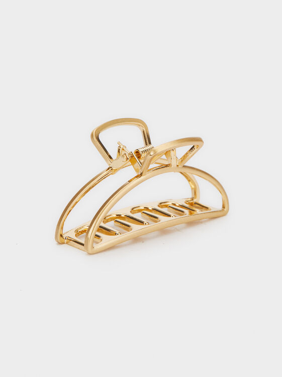 Basic Hair Claw, Golden, hi-res