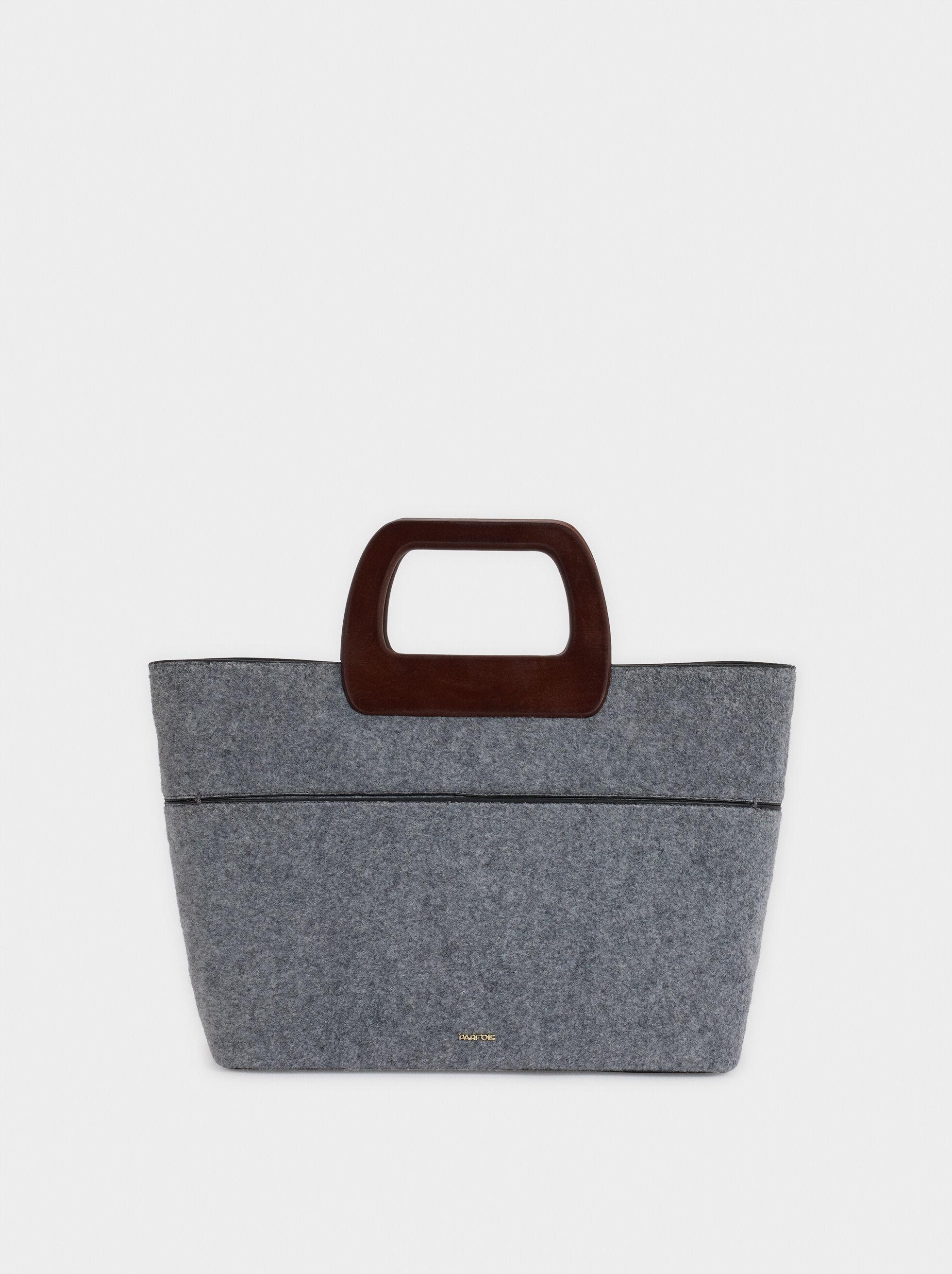 Patchwork Tote Bag, Grey, hi-res