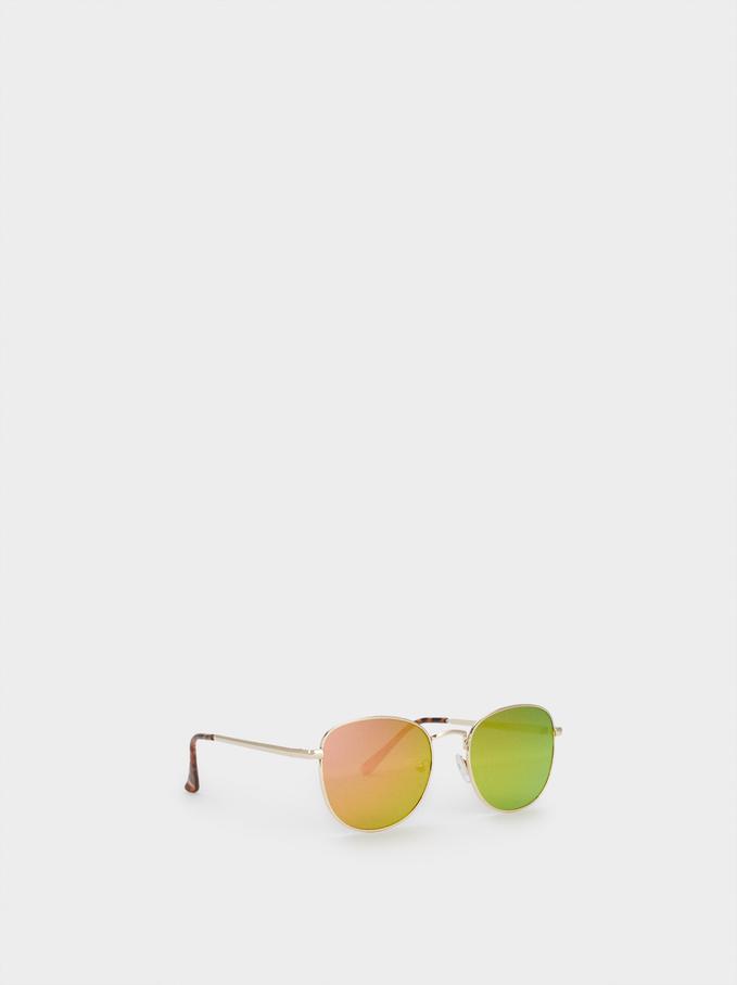 Metal Sunglasses, Orange, hi-res