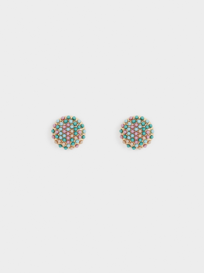 Sea Breeze Stud Earrings, Multicolor, hi-res