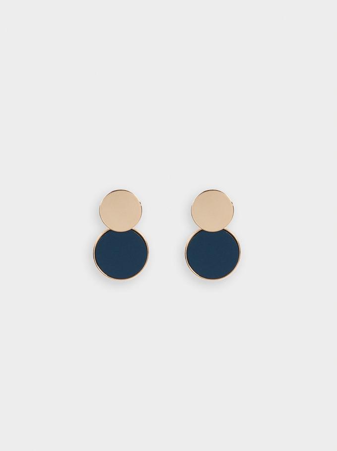 Geometric Earrings, Blue, hi-res