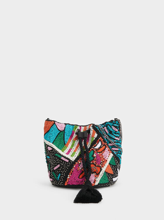 Party Clutch With Beading, , hi-res