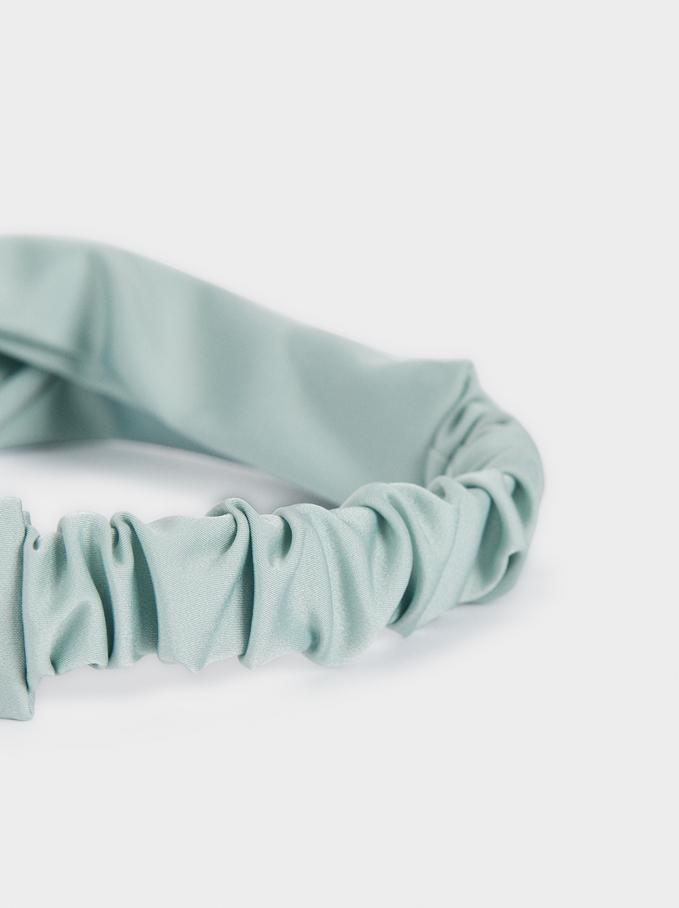 Turban-Style Headband, Green, hi-res
