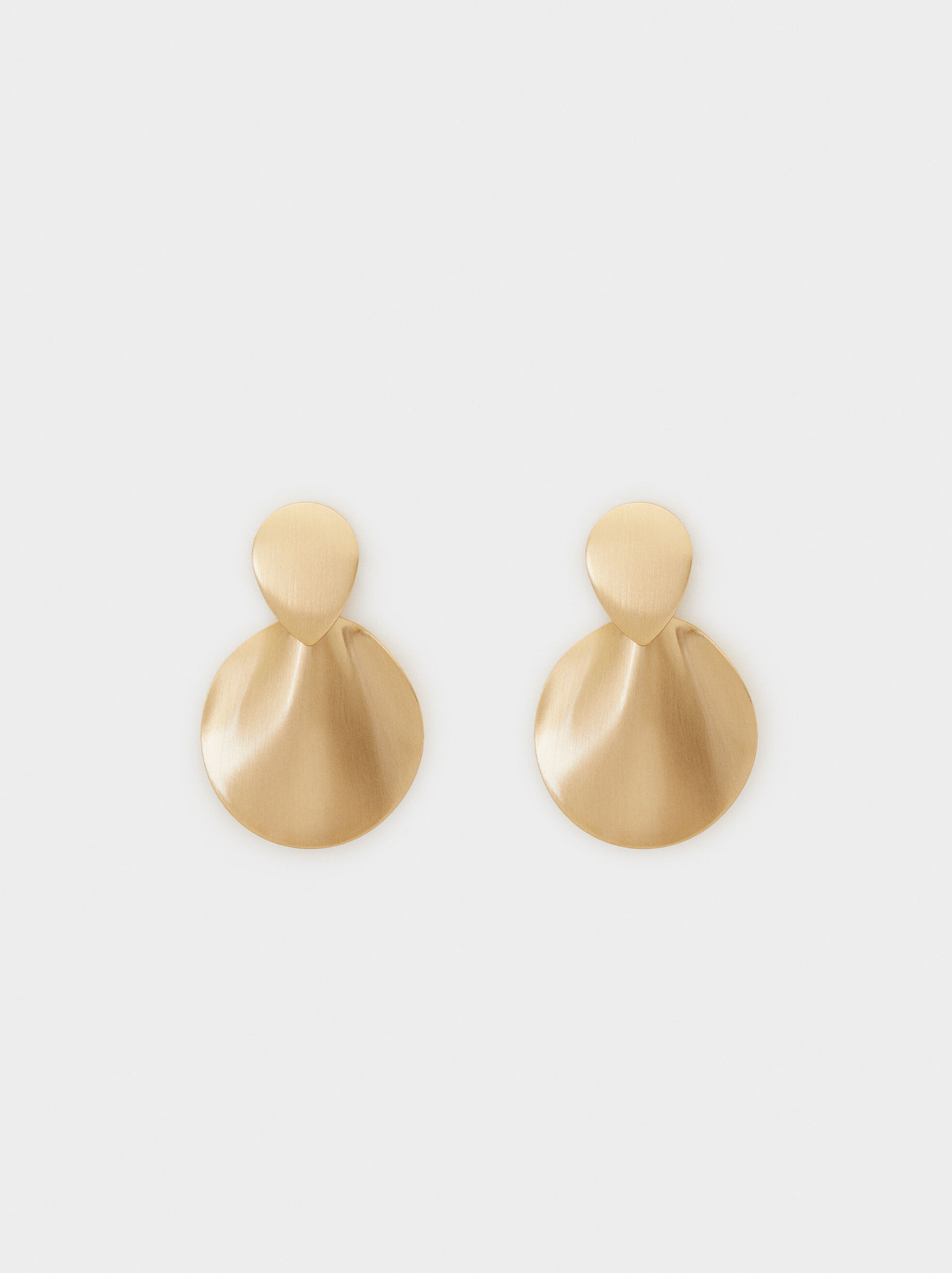 Medium Gold-Finish Earrings, , hi-res