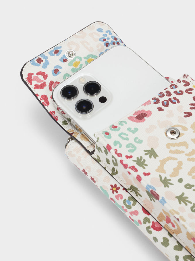 Floral Print Mobile Phone Case, Ecru, hi-res