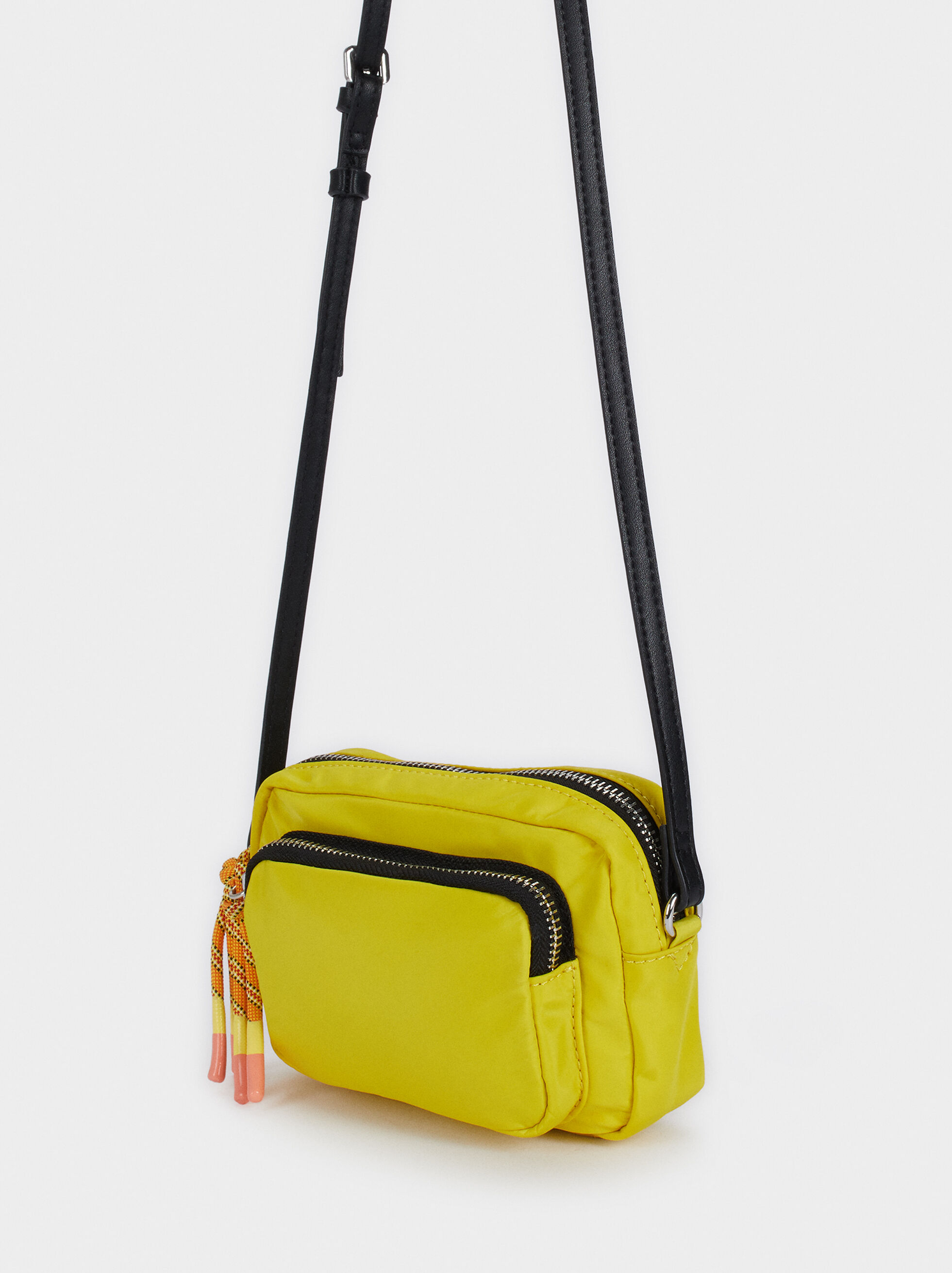 Nylon Crossbody Bag , Yellow, hi-res