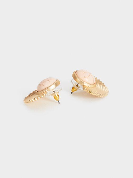 Stone Story Stud Earrings, Pink, hi-res