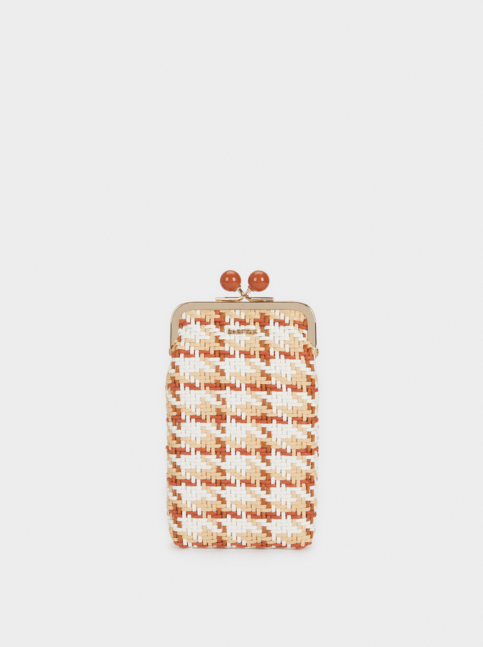 Braided Phone Case, Orange, hi-res