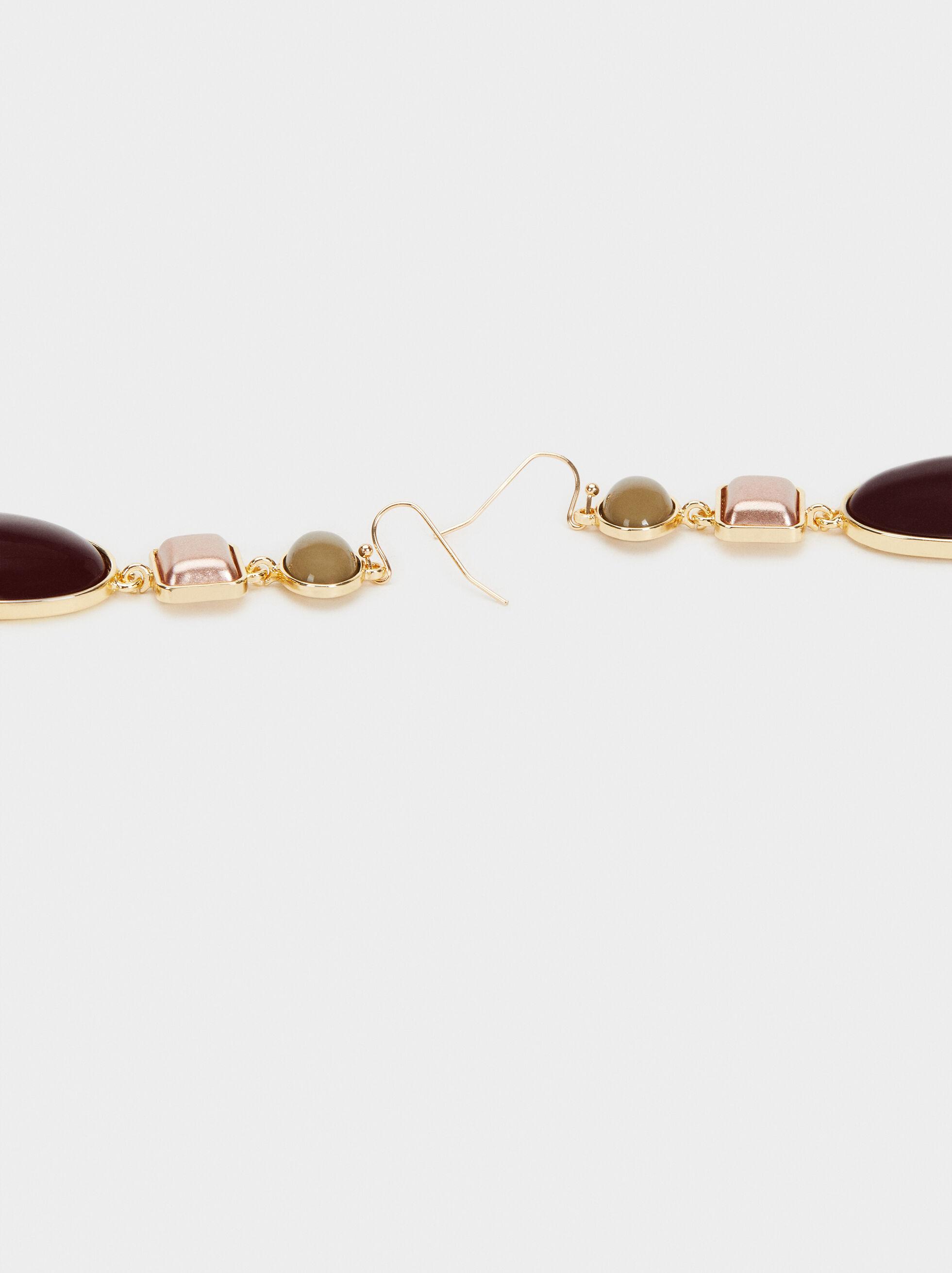 Boucles D'Oreilles Longues Savage Sparkle, Multicolore, hi-res