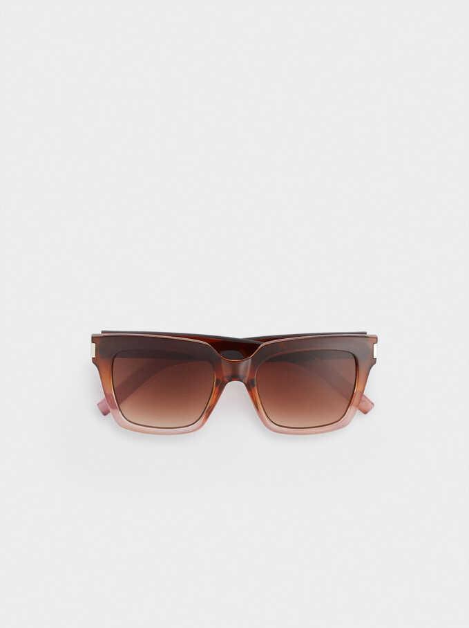 Sunglasses With Square-Cut Frames, Multicolor, hi-res