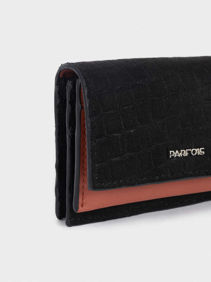 Compact Contrast Wallet, Black, hi-res