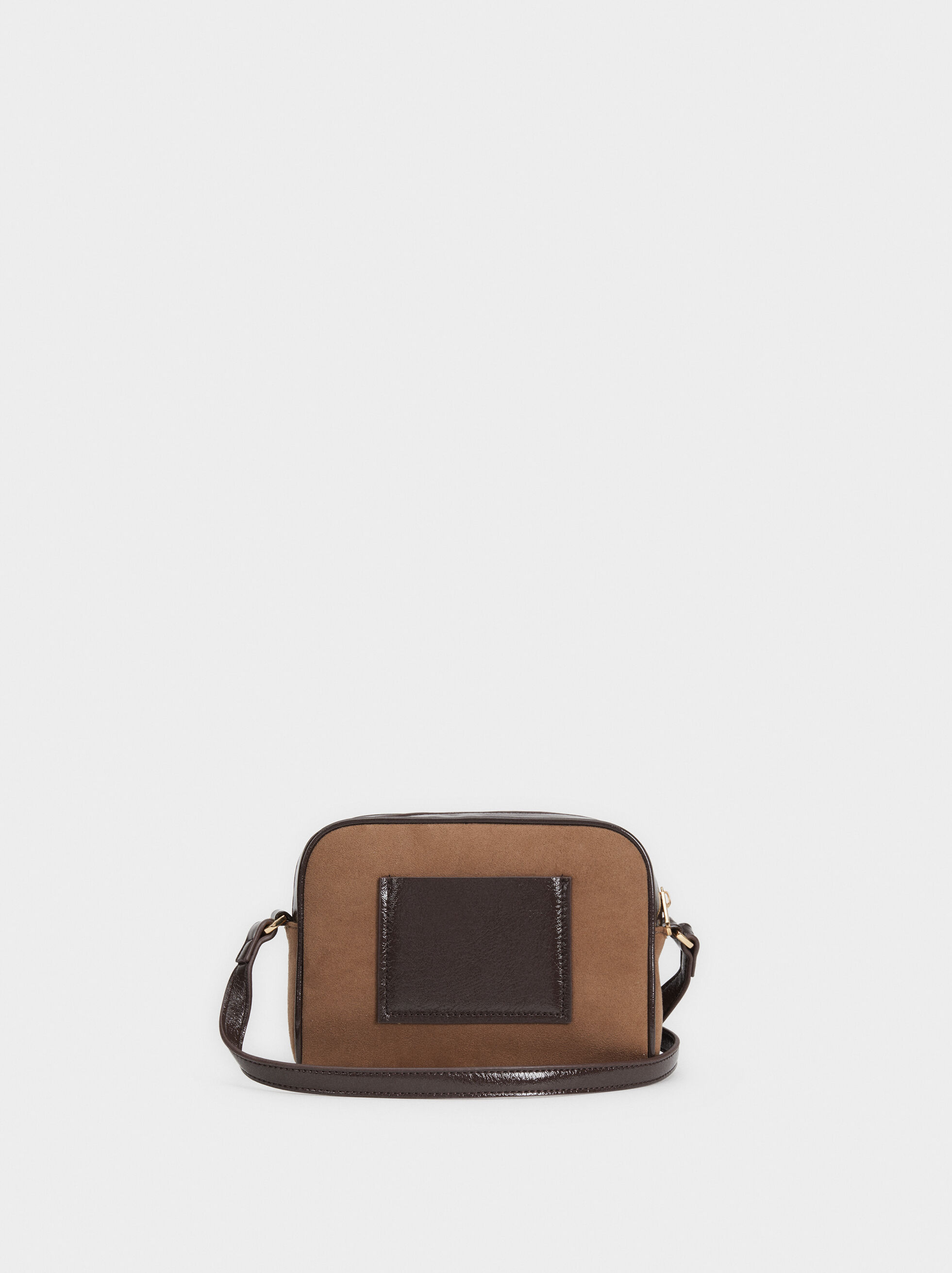 Crossbody Bag With Outer Pocket, Brown, hi-res